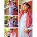 Из Трех частей Мусульманской одежды для Мужчин Мужской Кафтан Джубба Тобе Белый Абая Арабская одежда Человек Исламская одежда Ropa Араб hombre
