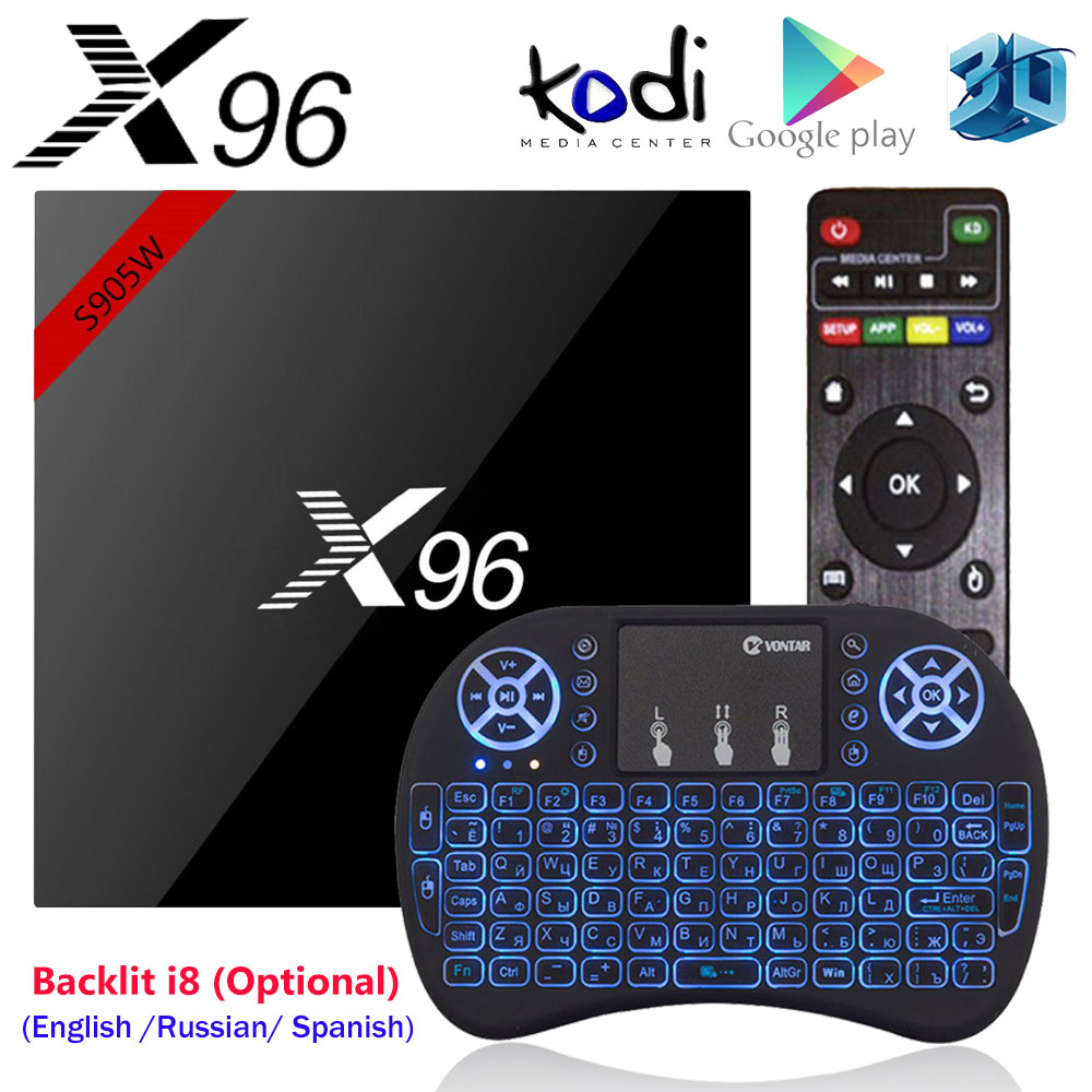 X96 X96W Amlogic S905W Android 7.1 TV Box Mini Box TV 1G/8G 2G/16G Support 2.4GHz WiFi HD 4K Media Player Set top Box
