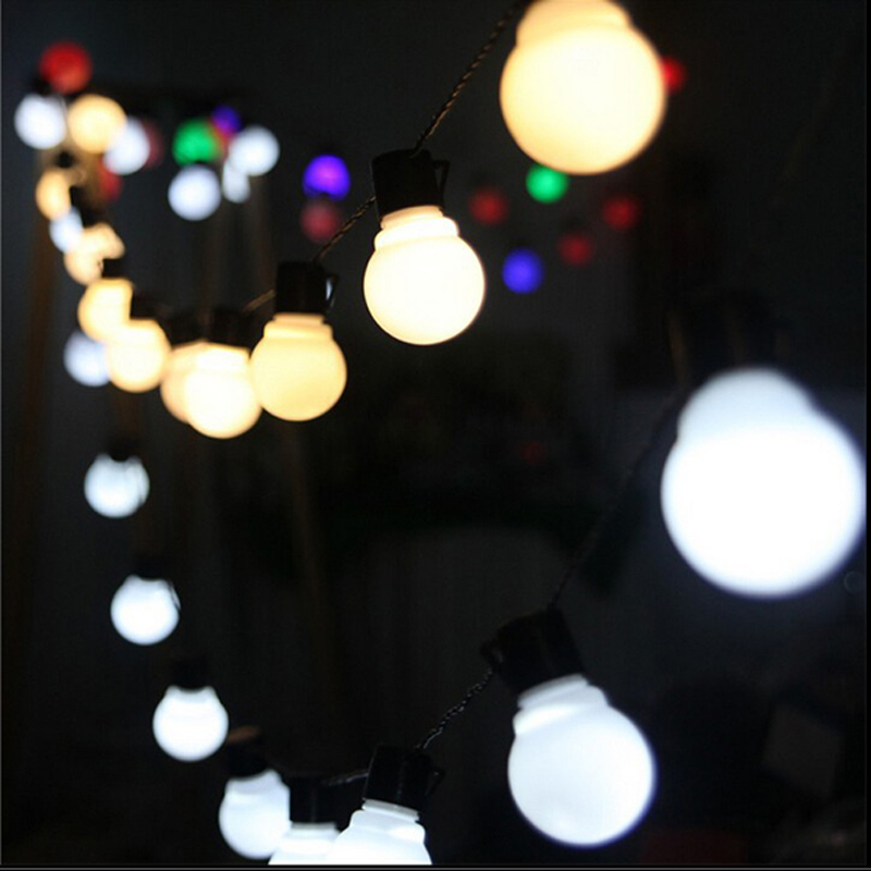 Outdoor LED string fairy light 38 LED Globe Festoon Ball strings lights party wedding garden garland decoration lamps Warm White