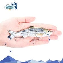 1PCS 12cm 16.6g Fishing Wobblers Four Segments Swimbait Crankbait Fishing Lure Bait with Synthetic Hooks for Ocean Boat Fishing