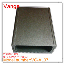 1pcs/lot Iron grey sand blasting aluminum enclosure diy 6063-T5 aluminum industry case 80*37.5*100mm for PCB device