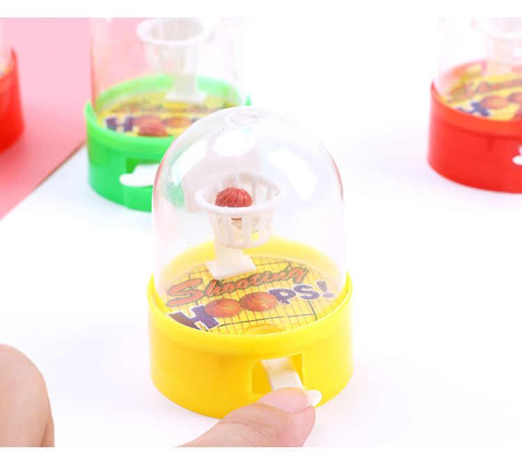 Brinquedo de basquete arremesso à sexta infantil, mini brinquedo clássico de ação engraçado gadget para crianças presente bonito de piada