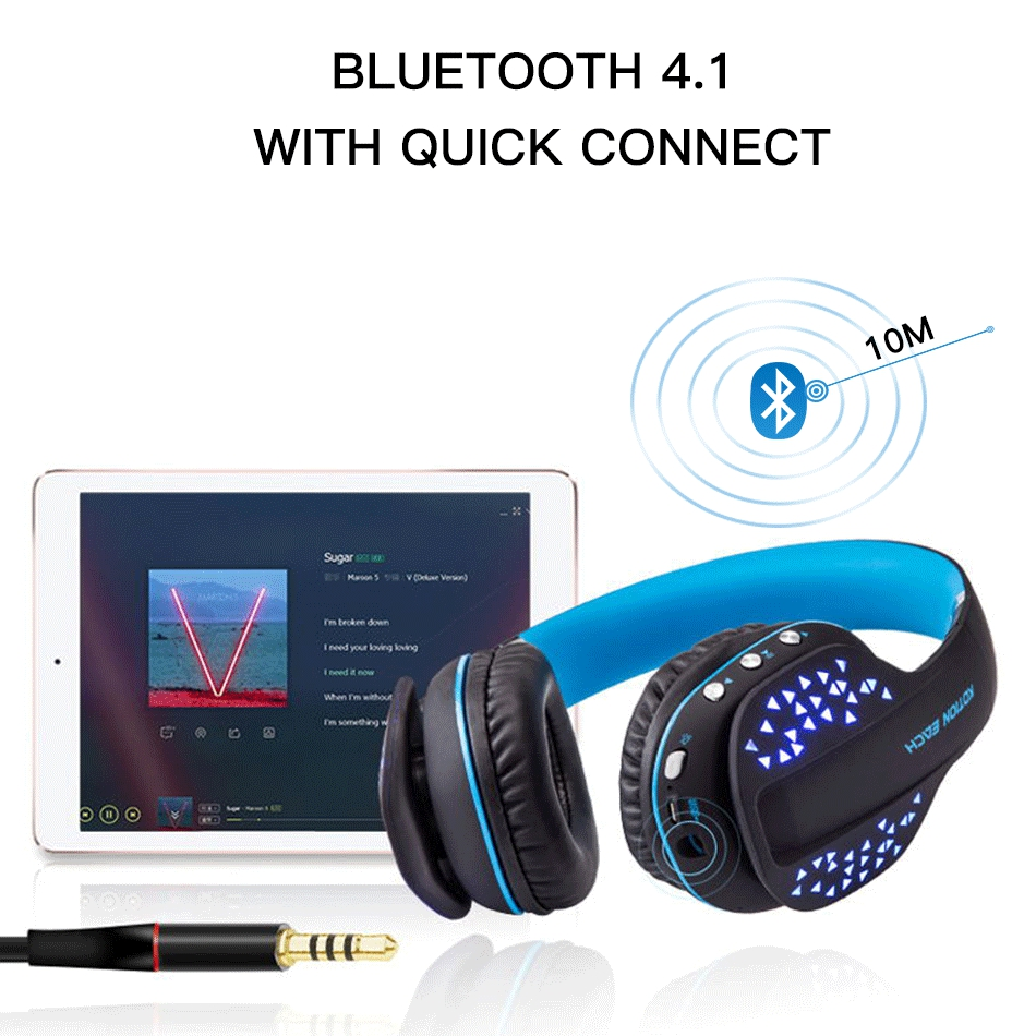 da1bb3240a3 KOTION EACH B3507 Bluetooth Headphones Wireless Noise Canceling Sport Music  Earphones Headsets Bass Stereo For a Mobile Phone-in Bluetooth Earphones ...
