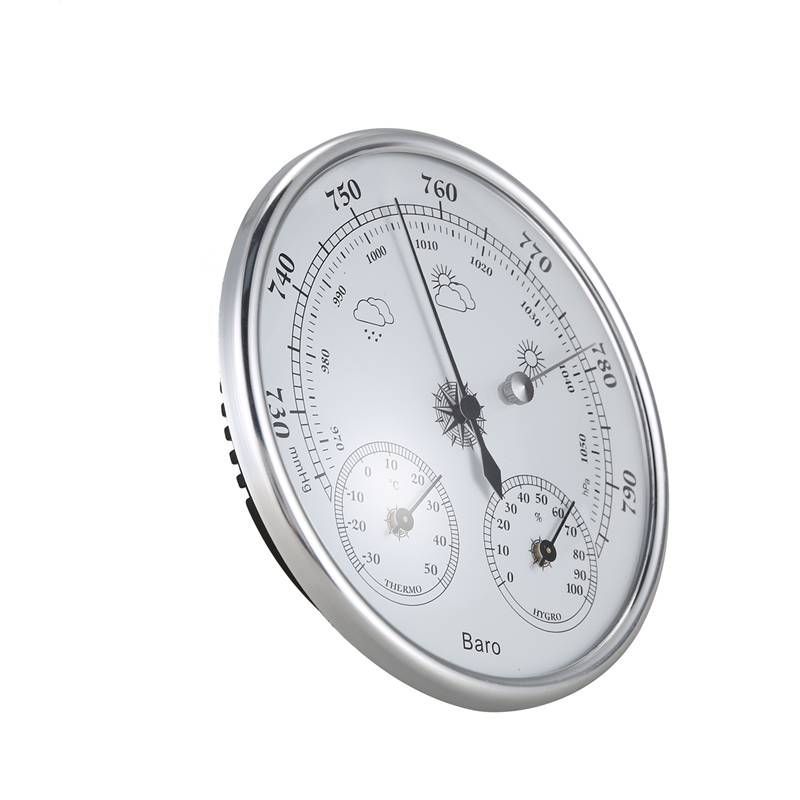 Image 3 - Wall Mounted Household Thermometer Hygrometer High Accuracy  Pressure Gauge Air Weather Instrument BarometerPressure Gauges   -