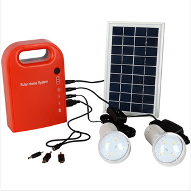Worldyea Solar Lamp Garden Light Small Solar Generator Field Emergency Charging Led Lighting System/Home Power Supply With Lamps