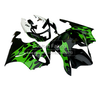 Kit ABS Carroçaria para Kawasaki ZX7R zx-7r 1996 2003 Ninja chamas verdes 2001 01 2002 02 2003 03 kit carenagem xl33