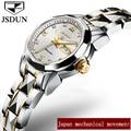 Reloj Mecánico JSDUN señoras de marca de lujo automático reloj resistente al agua Fecha de negocios acero femenina relojes 2018