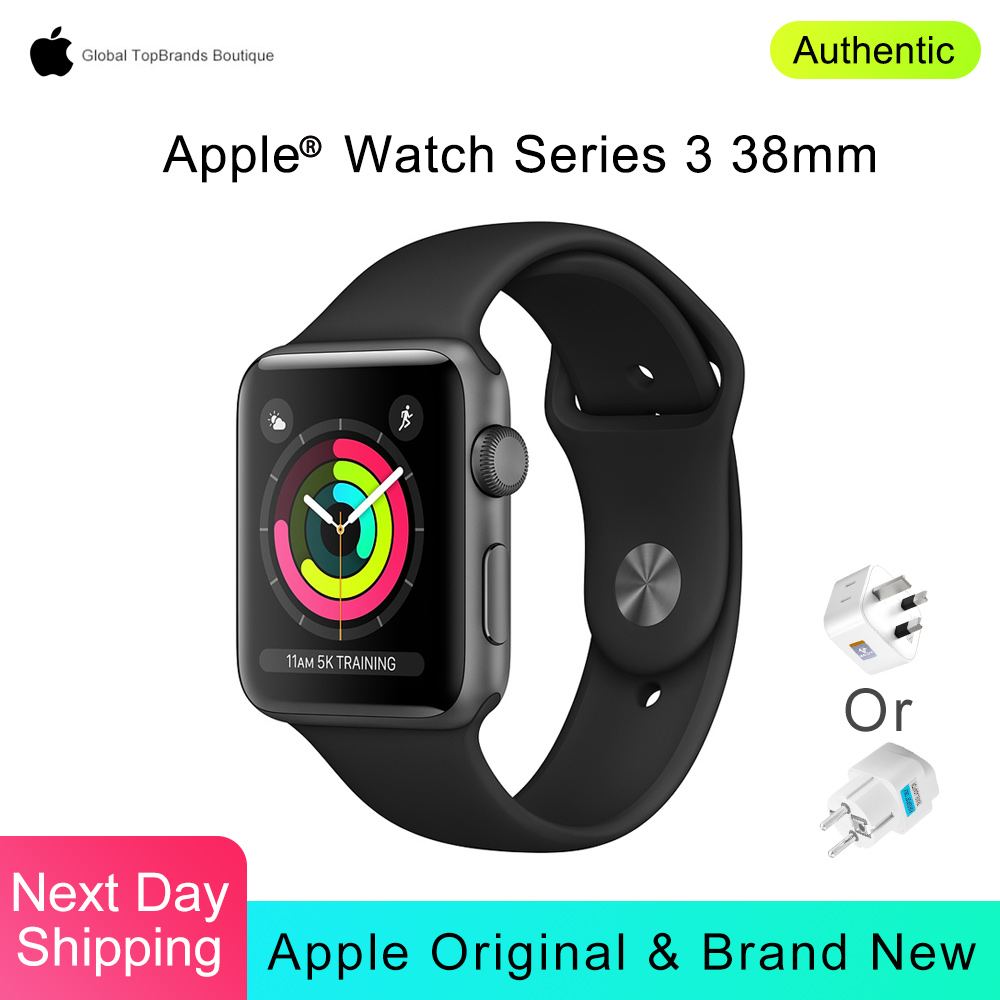 Apple Watch Series 3 38mm Sport Smart Watch GPS Heart Rate