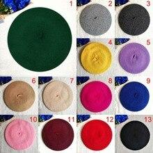 Fashion Kids Children Unisex Imitation Wool Warm Beret Beanie Hat Cap Autumn Win