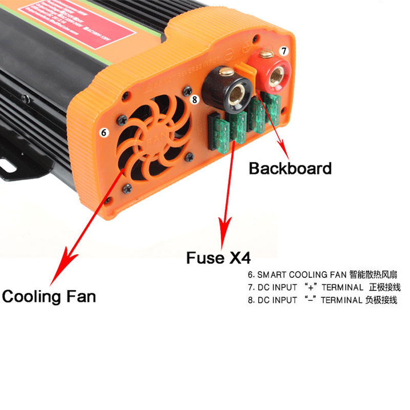 DC to AC 12v 220v 1500w off-grid power inverter 2