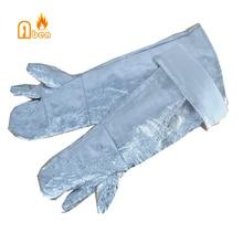 1000 градусов удлиняется 50 см тепловой изоляционная алюминиевая фольга перчатки для пожаротушения