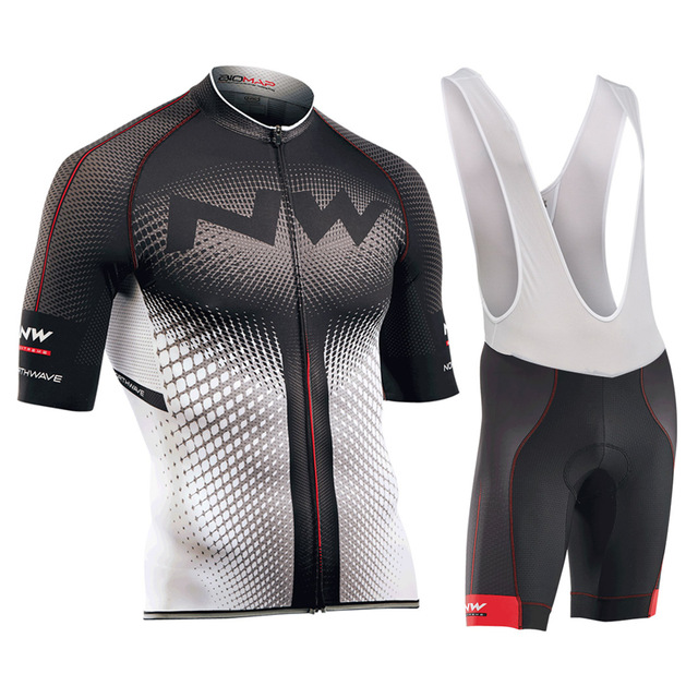 2018 NW New Short Sleeves Pro Team Cycling Jerseys Set with Bib Pants Quick Dry Breathable Ropa Maillot Ciclismo 9D Gel Pad