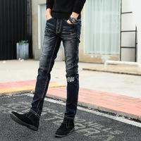 JACQUES WOLF Brand Men S Feet Pants Teen Han Edition Cultivate One S Morality Elastic Jeans
