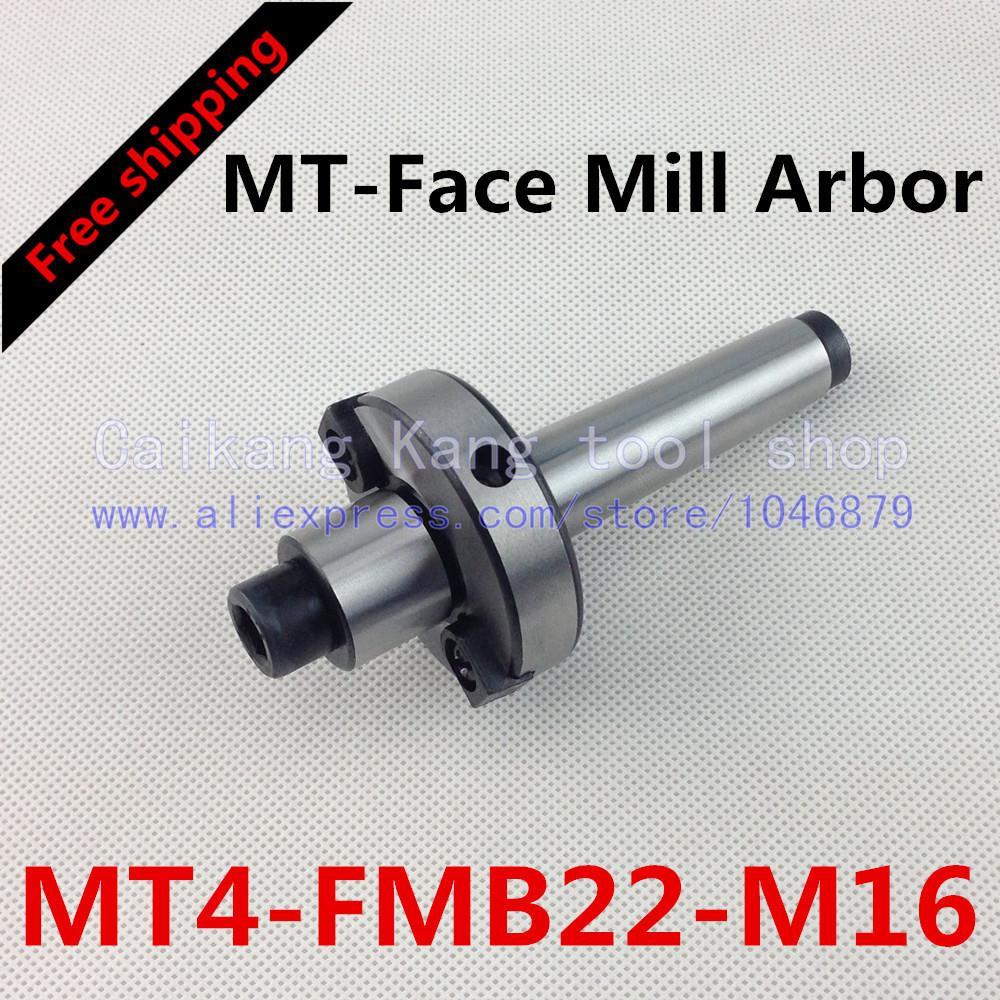 Free shipping New CNC tool holders MT4-FMB22-M16 Morse Face Mill Arbor Shell end mill arbor new face mill arbor cat40 fmb27 60l cnc milling arbor