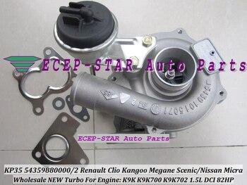 Free Ship KP35 54359700000 54359700002 Turbocharger For NISSAN Micra For Renault Clio Kangoo Megane 1 5L