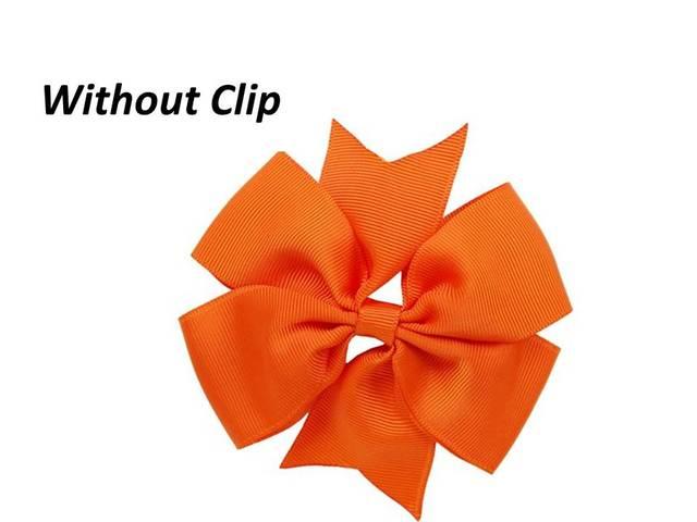 """בלי קליפ 4 """"סרט משי עבה שבשבת חץ וקשת לשיער אביזרי Diy לבחור 10 צבעים 100 יחידות"""