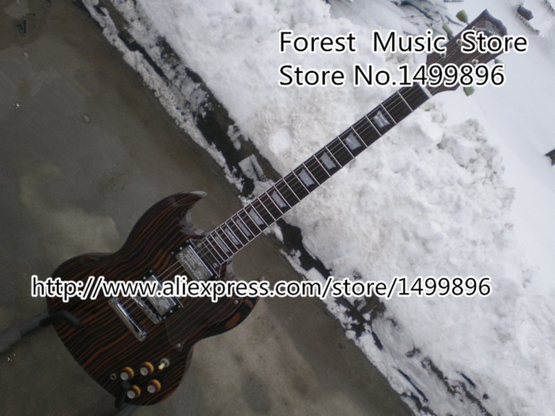 Top Selling Chinese SG 400 Electric Guitar Zebra Stripe Finish Guitars Body & Kits Left Handed Custom Available hot selling cheap price sg standard electric guitar bigpsy tremolo stain finish chinese guitars in stock for sale