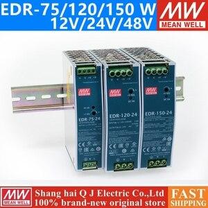 Image 1 - MEAN WELL EDR 75 120 150 12V 24V 48V meanwell EDR 75 120 150 12 24 48 V Single Output Switching Power Supply