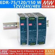 Poço médio EDR 75 120 150 12 v 24 v 48 v meanwell EDR 75 120 150 12 24 48 v única fonte de alimentação de comutação de saída