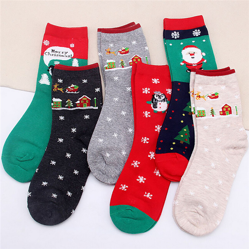 snowshine YLWStyle Fashion Christmas Women Female Girl Casual Socks Cute Unisex Cotton Soft Breathable Warm Socks