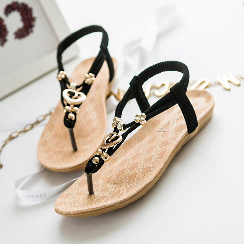 2018 Fashion Women Sandals Summer Gladiator Shoes Ladies Bohemia Shoes Woman Comfort Beach Shoes Flat Sandals phyanic 2017 gladiator sandals gold silver shoes woman summer platform wedges glitters creepers casual women shoes phy3323