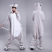 Rat Muizen Kostuum (geen sliper inbegrepen) voor Volwassen Cartoon Dier Cosplay Rompertjes Pyjama Jumpsuit Hoodies voor Halloween