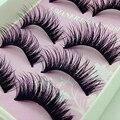 5 par beauty wispies naturais longos e grossos suave falso falso cílios artesanais