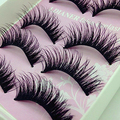 NEW GOODS 5 Pair Beauty Wispies Natural Long Thick Soft Fake False Handmade Eyelashes