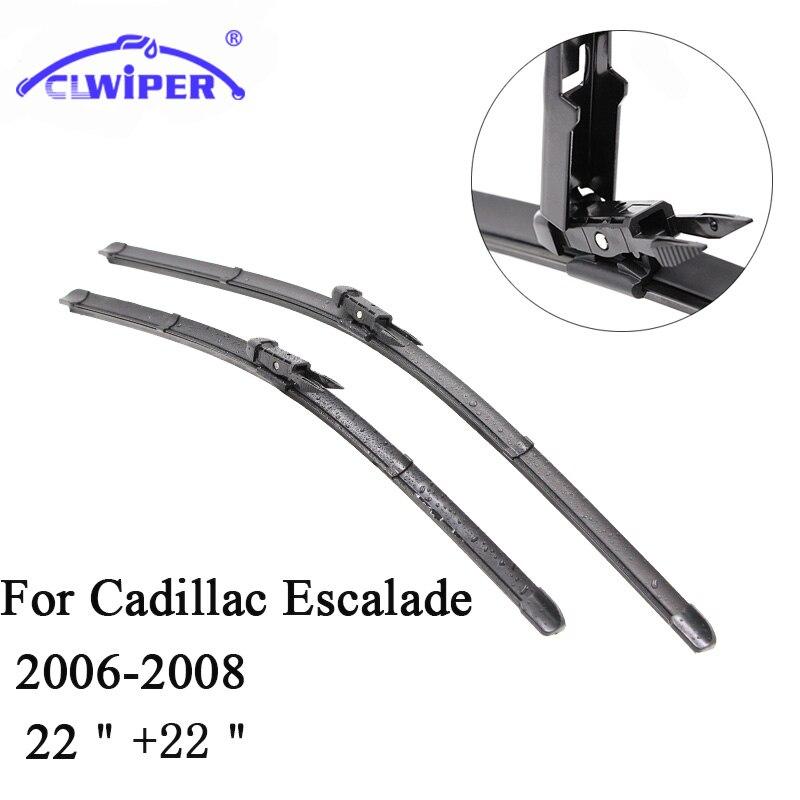 CLWIPER Wiper Blades For CADILLAC ESCALADE (2006-2008) 2007 Car Windscreen Wiper Windshield Wiper Blade 22+22 Cars accessories