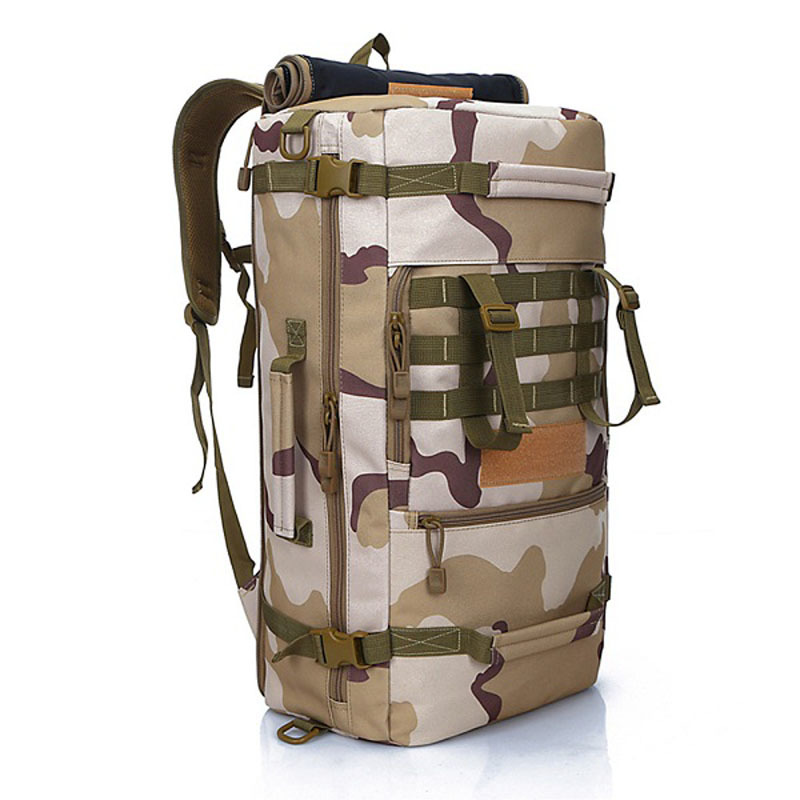 50L Outdoor Sport Military Tactical climbing mountaineering Backpack Camping Hiking Trekking Rucksack Travel outdoor Bag lemochic high 65l outdoor mountaineering bag waterproof sport travel backpack camping hiking shiralee luggage canvas rucksack