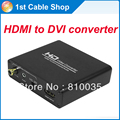 HDMI to DVI converter with audio HDMI HDCP remover decoder HDMI to DVI+coaxial/aux audio for PS4 Laptop DVD