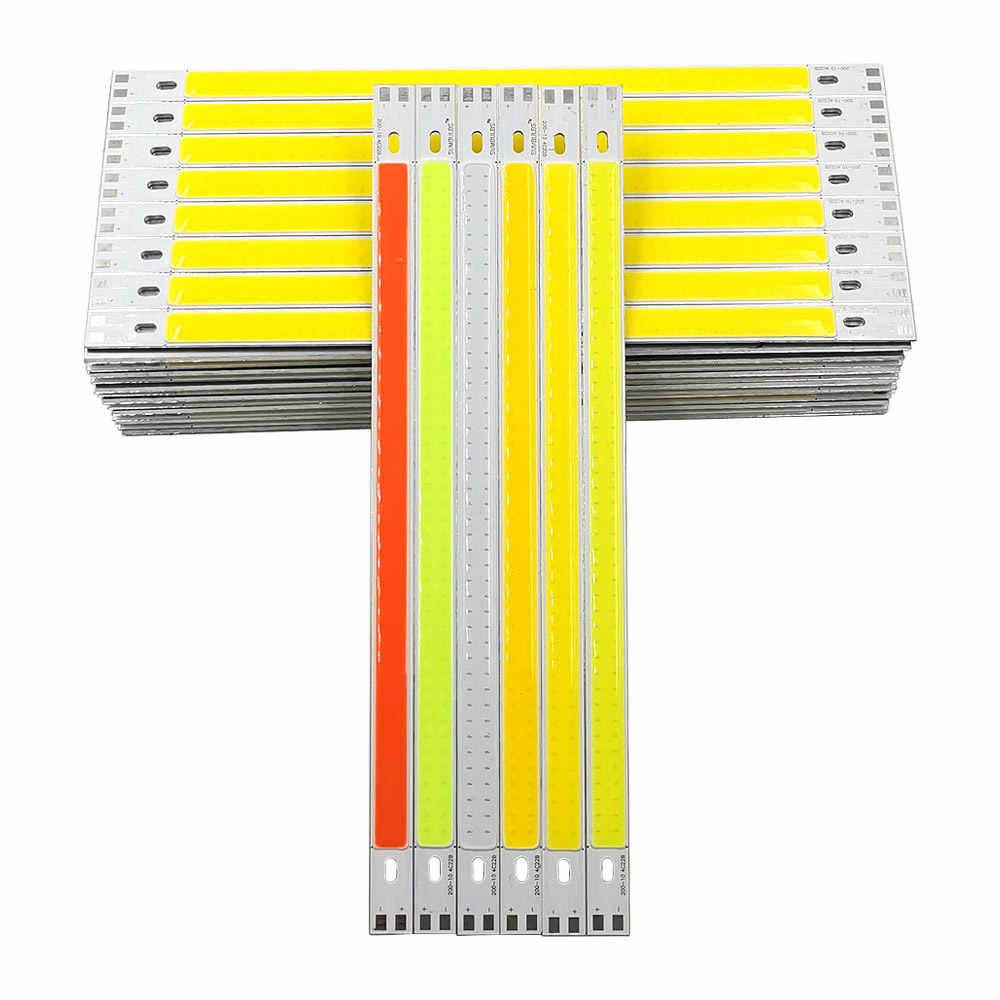 12V LED Light 200x10mm COB Strip DC12-14V 10W 1000LM 20CM LED Bar Lights for Car Lighting Desk Decoration Lamp Red Blue White