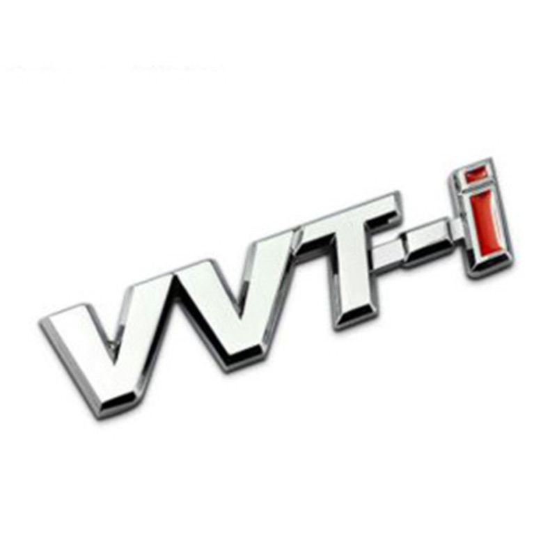 1 pcs vvti abs vvt i racing badge emblem decal car stickers for toyota corolla rav4 auris
