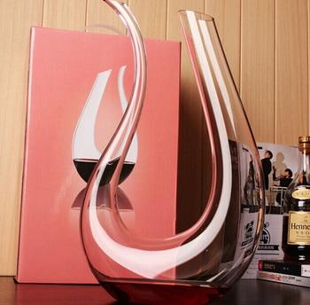 Handmade Crystal Glass Amadeo Wine Decanter Decorative Harp Shape Aerator Flask Barware and Drinkware Vessel Craft Accessories