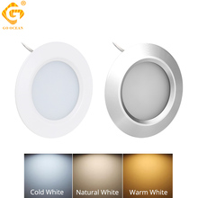 Under Cabinet Lights LED Night Lamp Dimmable 12V 3W Round Aluminum Closet Light Cupboard Kitchen lamps Counter Lighting