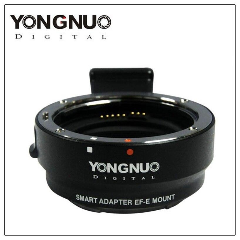 Original YONGNUO Camera Smart Adapter EF-E Mount for Canon EF EF-S Lens to Sony A6000 / A5000 / NEX7R / 7R commlite cm ef mft electronic aperture control lens adapter for ef ef s lens m4 3 camera