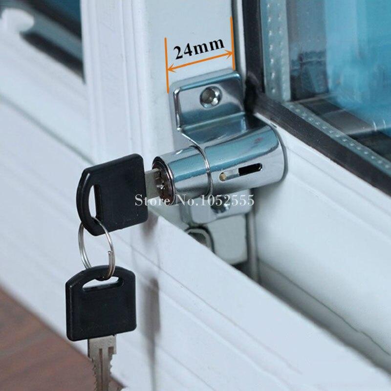 Cerradura seguridad puerta aluminio