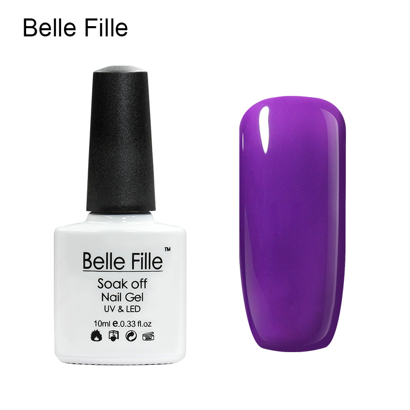 Belle Fille Gel Polish Paars Serie Kleur Coat UV LED Losweken - Nagel kunst - Foto 3