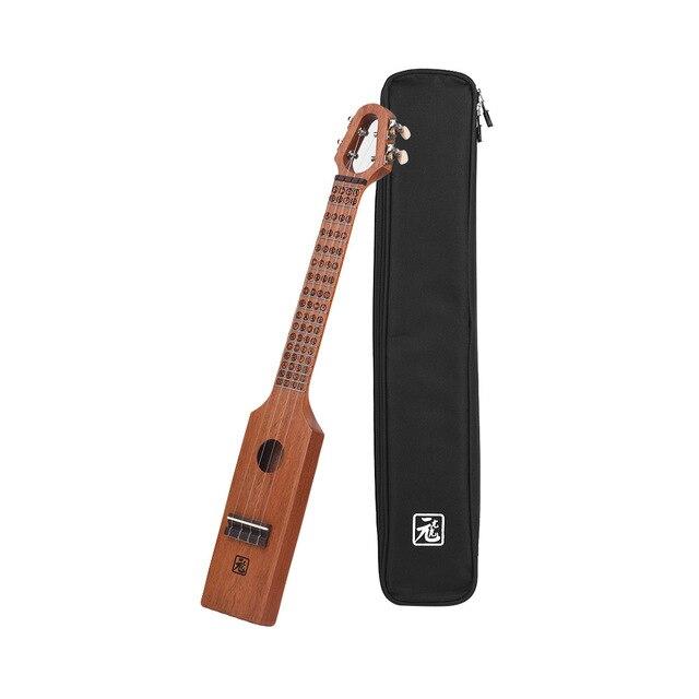 23 Acoustic Ukulele Concert Ukelele Mahogany Wood Compact Size With