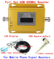 LCD Display ! gsm repeater 900 mhz gsm 980 signal booster ,cell phone signal booster GSM repeater amplifier +13dbi yagi antenn