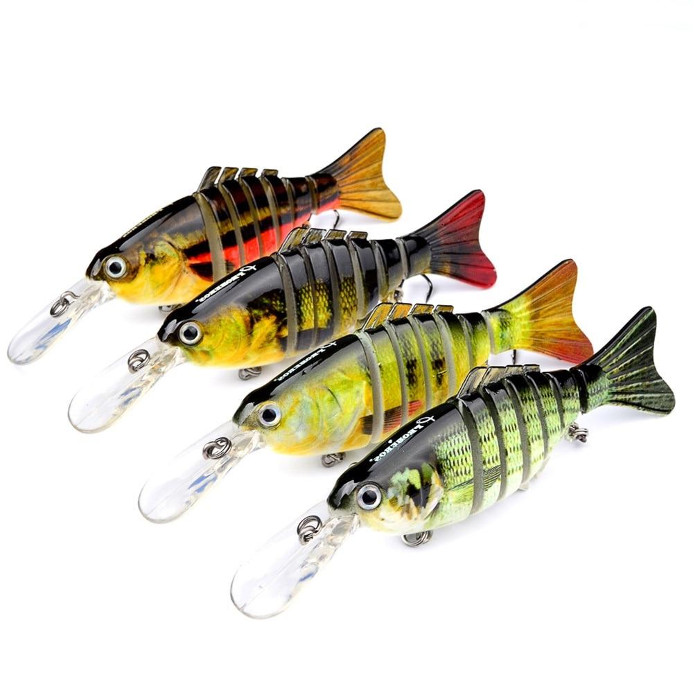 7 seções 11.2cm 14g pesca wobblers com