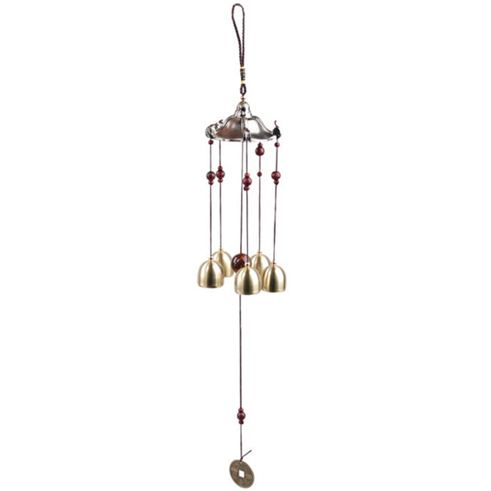 US $3 28 34% OFF|Copper 5 Bells Wind Chimes Pentagon Pavilion Feng Shui  Decorations Windchimes for Outdoor Home Garden Yard Mascot Gifts-in Wind