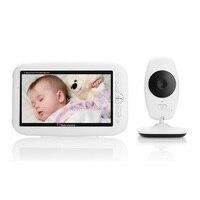 babykam baba eletronica com camera detector fetal 7 inch IR night light vision Intercom Lullaby Temperature Sensor baby monitor