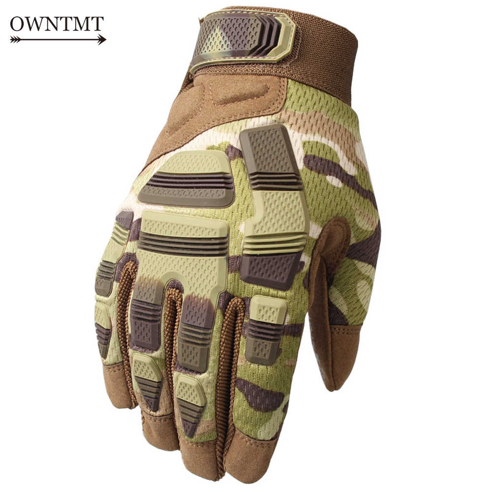Shooting Tactical Gloves Camo Outdoor Airsoft Paintball Army Military Hunting