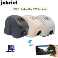 Jabriel hidden wifi 1080P auto car recorder dvr dash cam dual lens rearview camera for audi a3 8p 8v a4 b8 b7 b6 a5 a6 c5 c6 c7