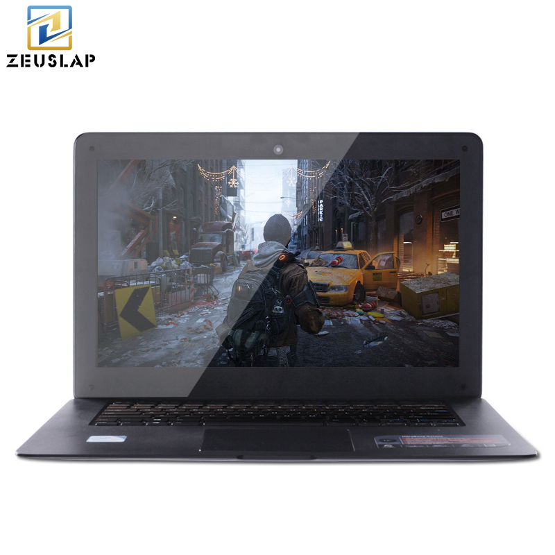ZEUSLAP-A8 14inch 1920X1080P 4GB Ram+64GB SSD Windows 10 system Ultrathin Quad Core Fast Boot  Laptop Netbook Computer on Sale 2g ram 64g ssd 11 6 inch rotating and touching hd screen 2 in 1 windows 8 or 8 1 system laptop computer netbook for office