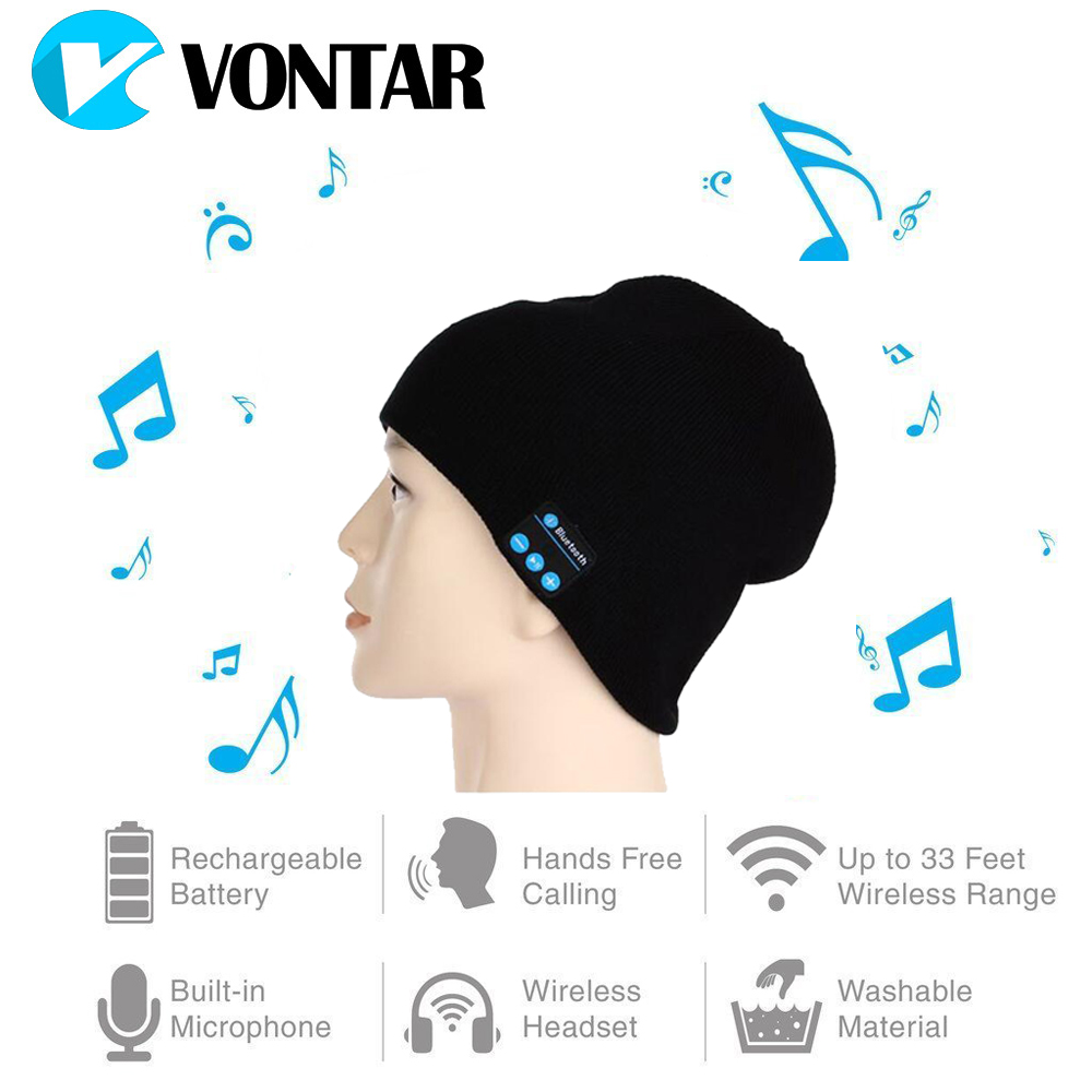 VONTAR MK-1 MK-2 Wireless Bluetooth headphones Music hat Smart Caps Headset earphone Warm Beanies winter Hat with Speaker Mic aetrue winter hats skullies beanies hat winter beanies for men women wool scarf caps balaclava mask gorras bonnet knitted hat