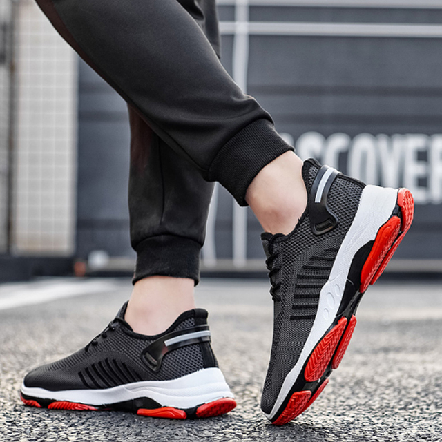 PUIMENTIUA 2019 Men Vulcanize Shoes Casual Comfort Sneakers Wear-resisting Non-slip Male Mesh Tenis Masculino Plus Size Footwear 1
