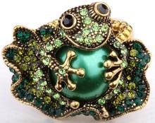 Rana anillo de estiramiento para las mujeres de joyería de moda de verano W crystal animal charm oro plateado dropshipping wholeslae 11