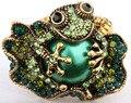 Sapo trecho do anel para as mulheres jóias da moda verão W animal de cristal charme de prata banhado a ouro dropshipping wholeslae 11